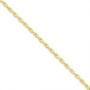 10k 3.5mm Marquise  Chain bracelet
