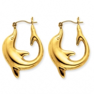 10k Dolphin Earrings