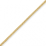 10k  Polished Diamond-cut Hollow Double Rope Bracelet