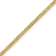 10k Diamond-cut Triple Rope Bracelet