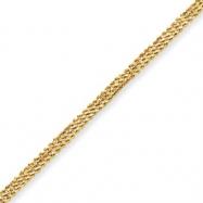 10k Diamond-cut Triple Rope Bracelet
