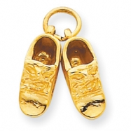 14k Baby Shoes Charm