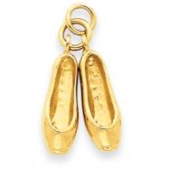 14k Ballet Slippers Charm