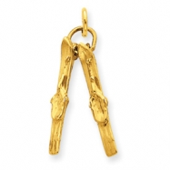 14k Pair of Skis Charm