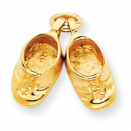 14k Polished Baby Shoes Charm