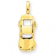 14k Sports Car Charm