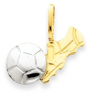 14k Two-Tone Soccer Charm