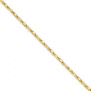 14k 2mm Byzantine Chain bracelet