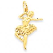 14k Ballet Dancer Charm