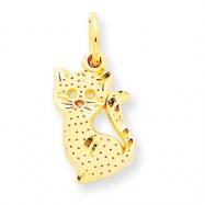 14k Kitty Cat Charm