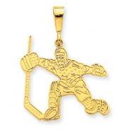 14k Hockey Player Charm
