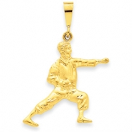 14k Male Karate Pendant