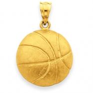 14k Basketball Charm