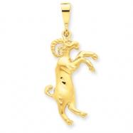 14k Aries Zodiac Charm