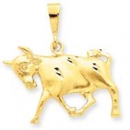 14k Taurus Zodiac Charm