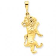14k Leo Zodiac Charm
