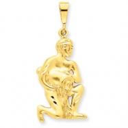 14k Aquarius Zodiac Charm