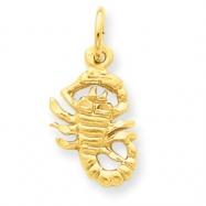 14k Scorpio Zodiac Charm