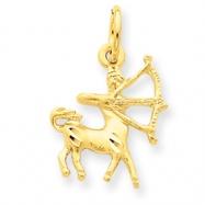 14k Sagittarius Zodiac Charm