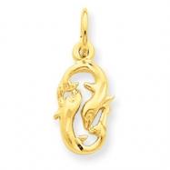 14k Pisces Zodiac Charm
