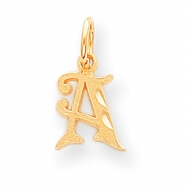 14k Initial A Charm