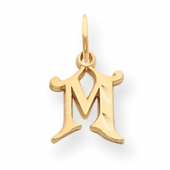 14k Initial M Charm