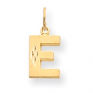 14k Initial E Charm