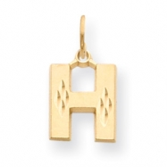 14k Initial H Charm