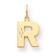 14k Initial R Charm