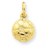14k Soccer Ball Charm