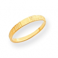 14k Polished & Ridged Baby Ring