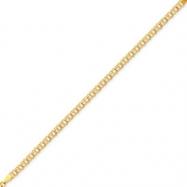 14k Doubl Link Charm Bracelet