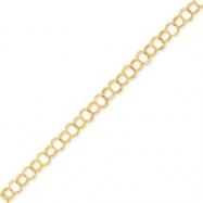 14k Solid Triple Link Charm Bracelet