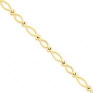 14k Religious Icthus (Fish) Bracelet