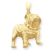 14k Bulldog Pendant