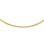 14k 3mm Lightweight Omega Necklace chain