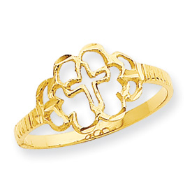14k Cross Ring