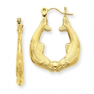 14k Dolphin Hoop Earrings