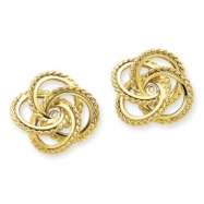 14k Polished & Twisted Fancy Earring Jackets