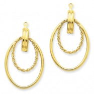 14k Polished Double Hoop Earring Jackets