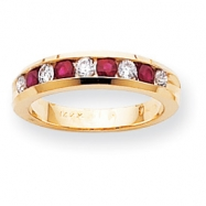 14k 2.5mm Ruby A Diamond anniversary band