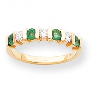 14k 2.75mm Emerald A Diamond anniversary band