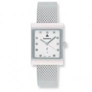 Mens Kremena Stainless Steel White Dial Swiss Quartz Watch