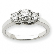Platinum AA Diamond three stone ring