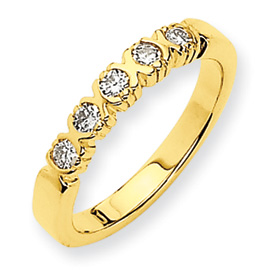 14k A Diamond anniversary band