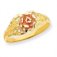 14k Two-tone Filigree Rose Ring