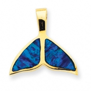 14k Created Opal Whale Tail Slide