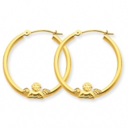 10k ANGEL HOOP EARRINGS