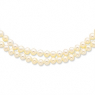 14k 5-5.5mm 2 Strand Cultured Pearl Necklace