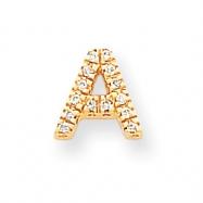 14k Diamond Initial A Charm